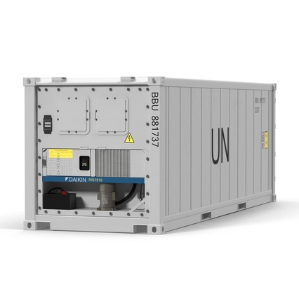 ISO Refrigerated Container. Render 9