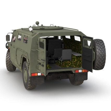Russian Mobility Vehicle GAZ Tigr M Rigged. Render 20