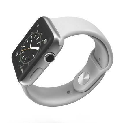 Apple Watch Sport Band White Fluoroelastomer 2. Render 8