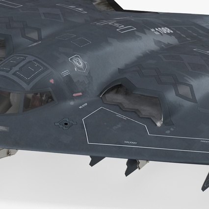 Stealth Bomber B-2 Spirit Rigged. Render 13