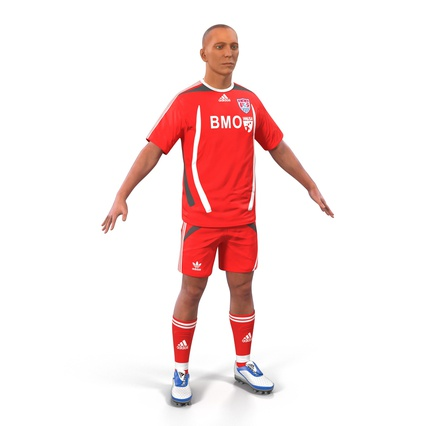 Soccer Player Rigged for Maya. Render 5