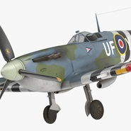 Royal Air Force Fighter Supermarine Spitfire LF Mk IX Rigged. Preview 13