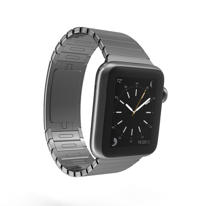 Apple Watch 38mm Link Bracelet Dark Space 2. Render 5