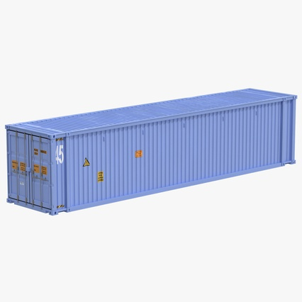 45 ft High Cube Container Blue. Render 1