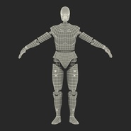 Male Crash Test Dummy Rigged for Cinema 4D. Preview 4