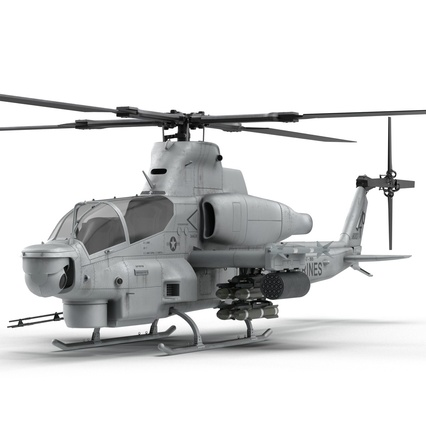 Attack Helicopter Bell AH 1Z Viper Rigged. Render 22