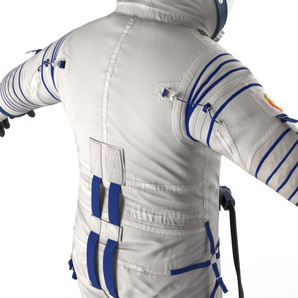 Russian Astronaut Wearing Space Suit Sokol KV2 Rigged for Maya. Render 36