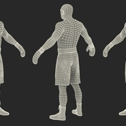 African American Boxer Rigged for Cinema 4D. Preview 30