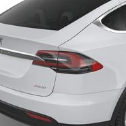 Tesla Model X Rigged. Preview 53