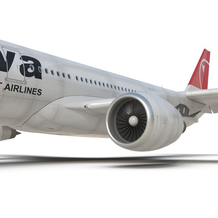 Jet Airliner Airbus A330-200 Northwest Airlines Rigged. Render 45