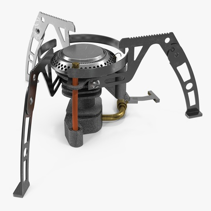 Folding Portable Camping Gas Stove. Render 2