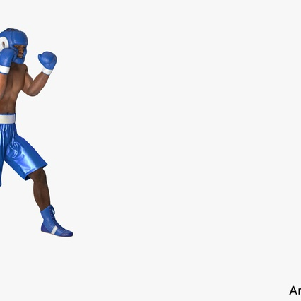 African American Boxer Rigged for Cinema 4D. Render 2