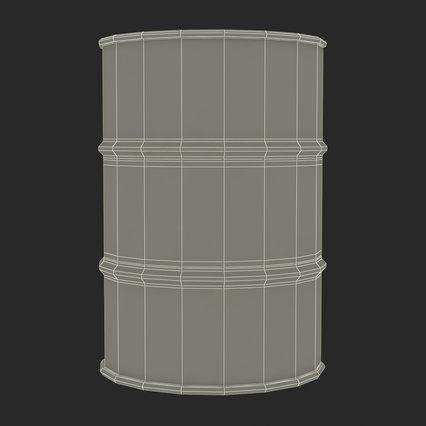 Oil Barrel Shell. Render 19