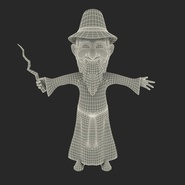 Cartoon Wizard Rigged for Maya. Preview 4