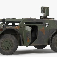 Fennek German Reconnaissance Vehicle Rigged. Preview 10