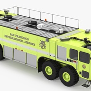 Oshkosh Striker 4500 Aircraft Rescue and Firefighting Vehicle Rigged. Preview 7