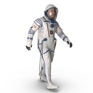 Russian Astronaut Wearing Space Suit Sokol KV2 Rigged for Maya. Preview 18