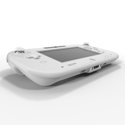 Nintendo Wii U Set White. Render 33