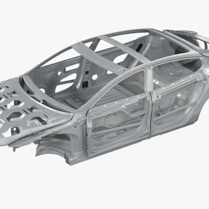 Tesla Model S Frame and Chassis. Render 5
