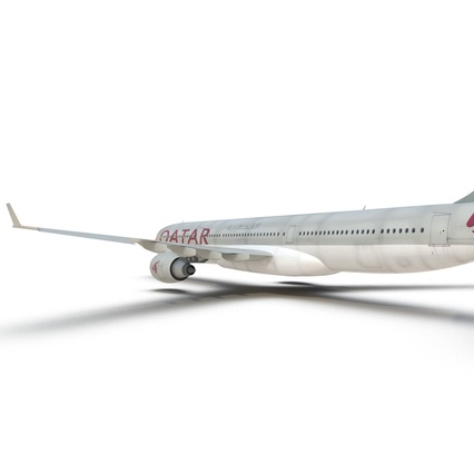 Jet Airliner Airbus A330-300 Qatar Rigged. Render 39