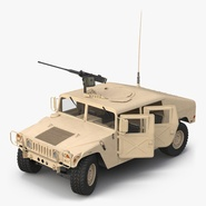 High Mobility Multipurpose Wheeled Vehicle Humvee Desert Rigged