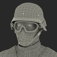SWAT Man Mediterranean Rigged for Cinema 4D. Preview 60