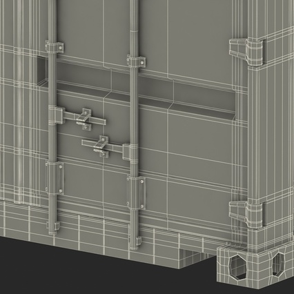40 ft High Cube Container Green. Render 50