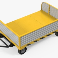 Airport Luggage Trolley with Container Rigged. Preview 16