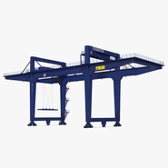Rail Mounted Gantry Container Crane Rigged Blue