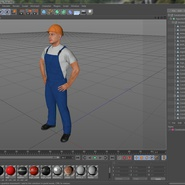 Construction Worker with Hardhat Standing Pose. Preview 24
