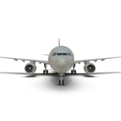 Jet Airliner Airbus A330-300 Northwest Airlines Rigged. Render 36