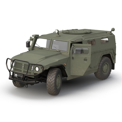 Russian Mobility Vehicle GAZ Tigr M Rigged. Render 10