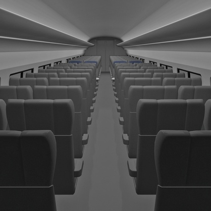 Railroad Amtrak Passenger Car 2. Render 40