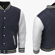 Blue Baseball Jacket. Preview 4