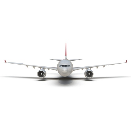 Jet Airliner Airbus A330-200 Northwest Airlines Rigged. Render 20