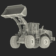 Generic Front End Loader Rigged. Preview 83