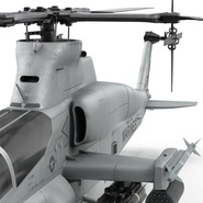 Attack Helicopter Bell AH 1Z Viper Rigged. Preview 72