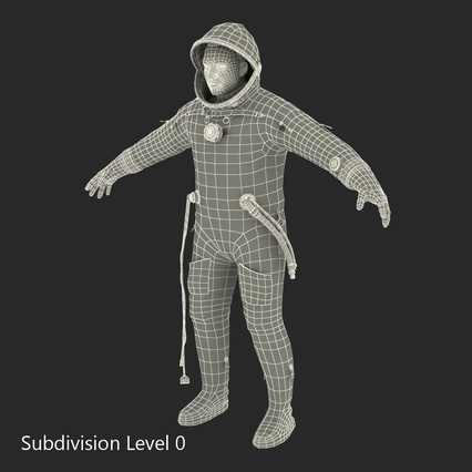 Russian Astronaut Wearing Space Suit Sokol KV2 Rigged for Maya. Render 50