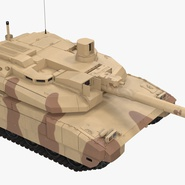 French Army Tank AMX-56 Leclerc Rigged. Preview 12