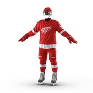 Hockey Equipment Detroit Red Wings. Preview 3