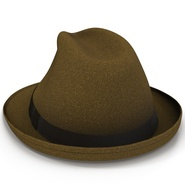 Fedora Hat Brown. Preview 14