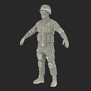 SWAT Man Mediterranean Rigged for Cinema 4D. Preview 48
