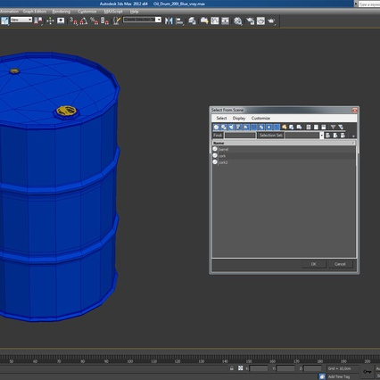 Oil Drum 200l Blue. Render 16