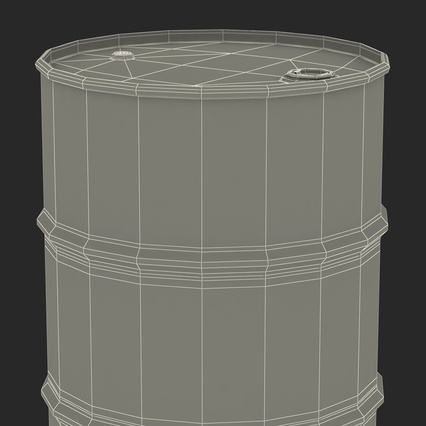 Oil Drum 200l Blue. Render 21
