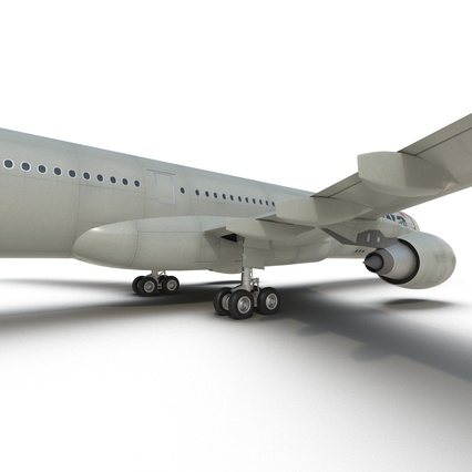 Jet Airliner Airbus A330-300 Northwest Airlines Rigged. Render 43