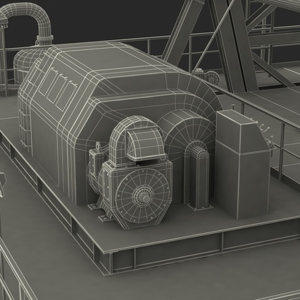 Fracking Gas Platform. Render 59