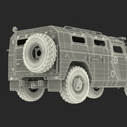 Russian Mobility Vehicle GAZ Tigr M Rigged. Preview 84