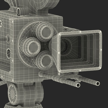 Vintage Video Camera and Tripod. Render 50
