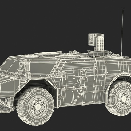Fennek German Reconnaissance Vehicle Rigged. Render 5