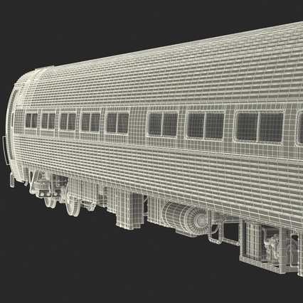 Railroad Amtrak Passenger Car 2. Render 65